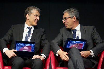 Alessandro Berzolla (COO di Dallara) e Luciano Ravera (AD di Humanitas)